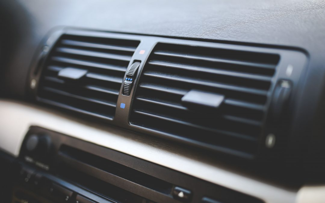 Image of air vents in a car.