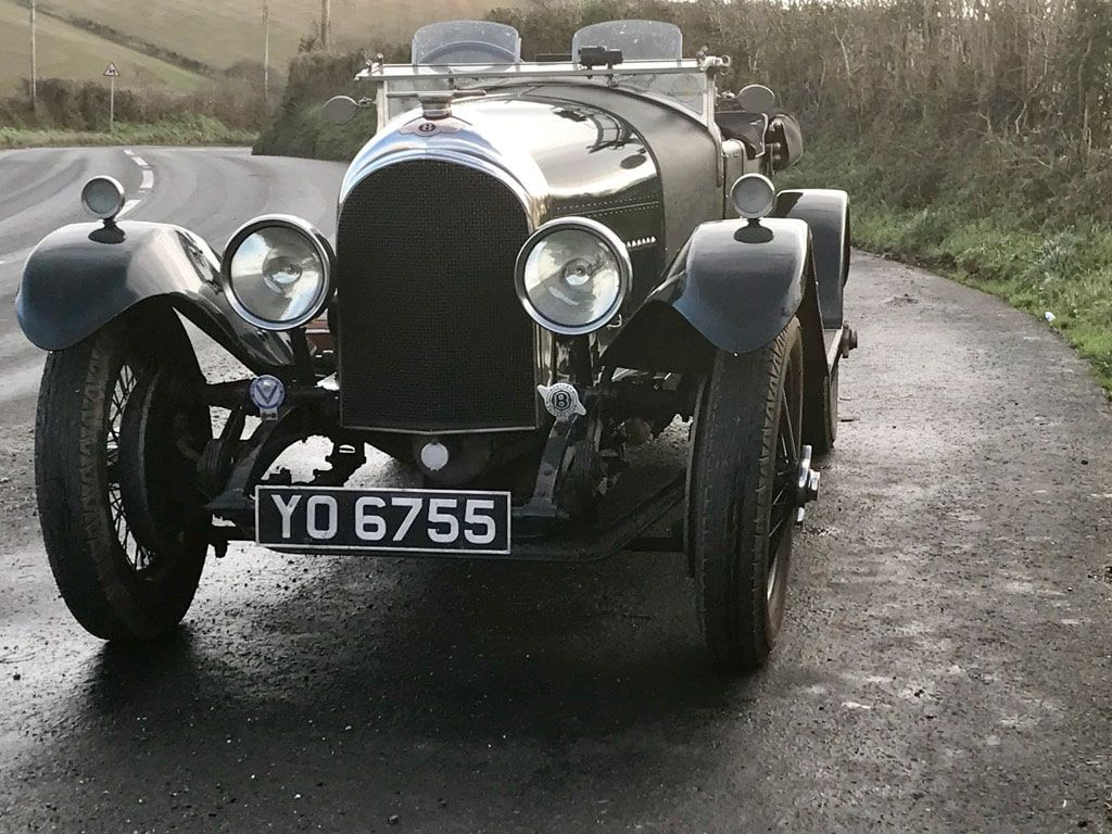 Image of a classic car with a cherished number plate.