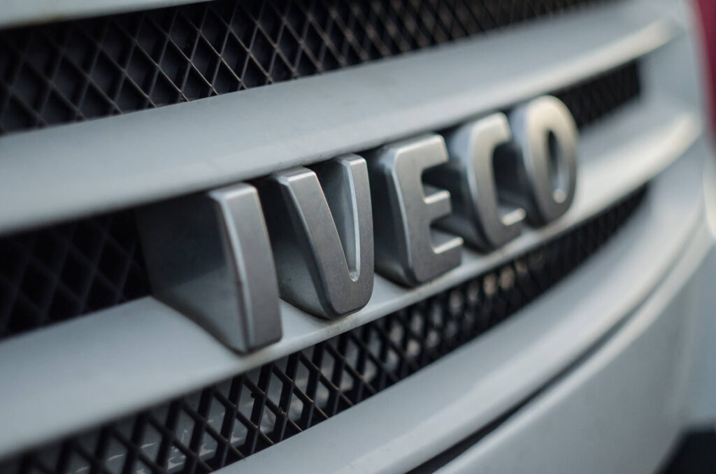Common Car Radiator Issues: Image of the radiator grille on an Iveco truck.