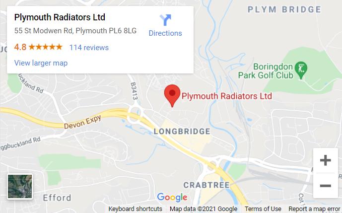 Location map - Plymouth Radiators